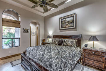 Well appointed casita is professionally decorated with exotic safari theme and exciting mountain views