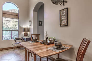 Romantic dining for 2 at charming drop leaf table