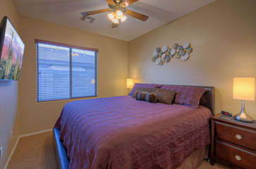 Second bedroom offers restful slumber or a place to view your favorite show away from the crowd