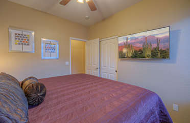Get ready to be comfortable in second bedroom with king bed and large TV