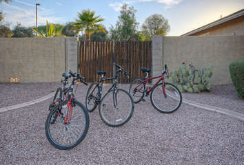 Area is rich with hiking and biking trails and home has bikes for guests' pedaling pleasure