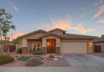 Lovely Gilbert home in appealing private golf and country club neighborhood has attached 2 car garage
