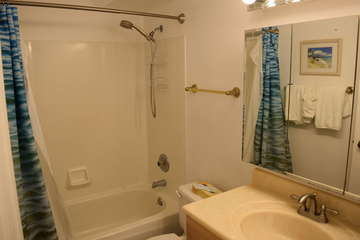 Bathroom with shower and tub combination