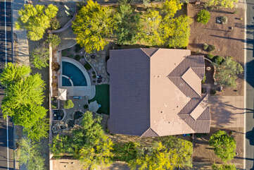 Birds eye view of exciting property in popular and conveniently located Sonoran Hills community
