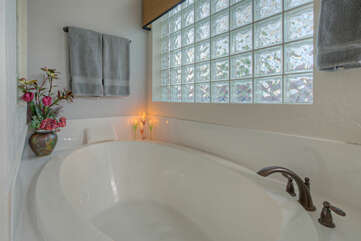 After 18 holes on the golf course or miles of hiking and biking adventures imagine tranquil moments in luxurious garden tub