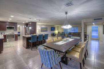 Floor plan is open and spacious with appealing living spaces