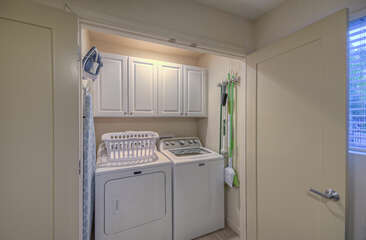 Well stocked laundry room helps you keep your wardrobe ready for your next adventure