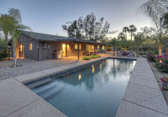 Large pool can be heated for an additional fee for year round swimming