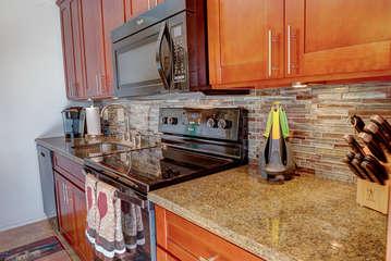 Beautifully stocked kitchen