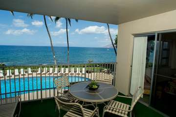 Incredible pool and ocean view from your lanai