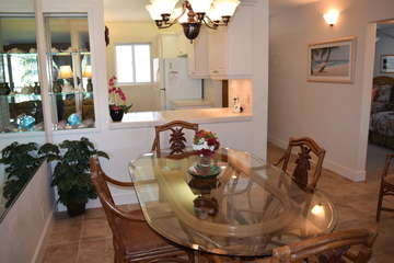 Dining area opens to kitchen