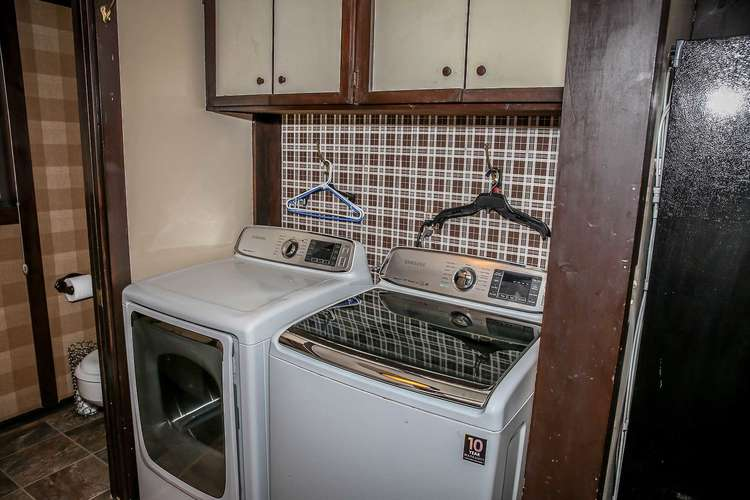Laundry downstairs off kitchen area