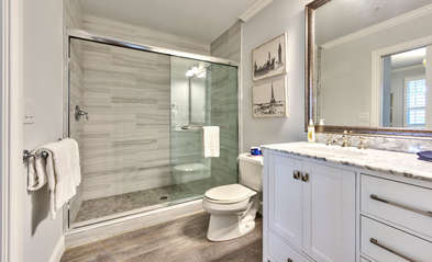 2nd Bathroom; Walk in Shower and All New Vanity!