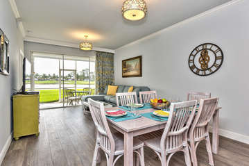Dining Room with Seating for 6; All New Decor and Furnishings in 2016! Enjoy Beautiful Golf Views While Enjoying a Home Cooked Meal!
