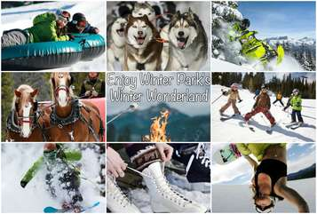 Take a break and discover a winter wonderland. Enjoy all Winter Park has to offer, from snowmobiling to tubing there is something for everyone.