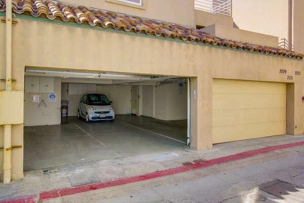 Garage parking (2 spaces- tandem)