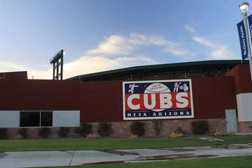 It's a short drive to the Chicago Cubs spring training at Sloan Park