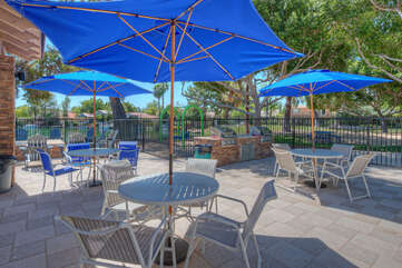 Heated community pool area offers a gathering place when you're in the mood for a social swim