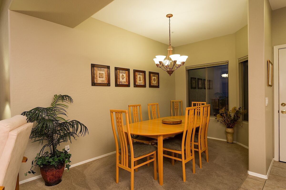 Dining Room Table can seat up to 8