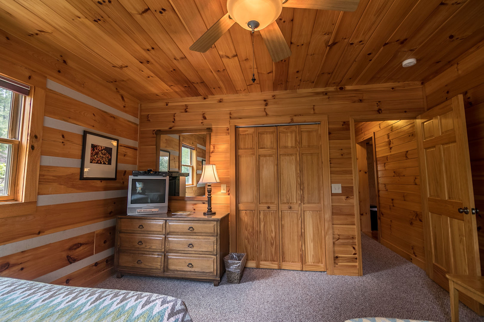 Main level bedroom with 2 queen beds