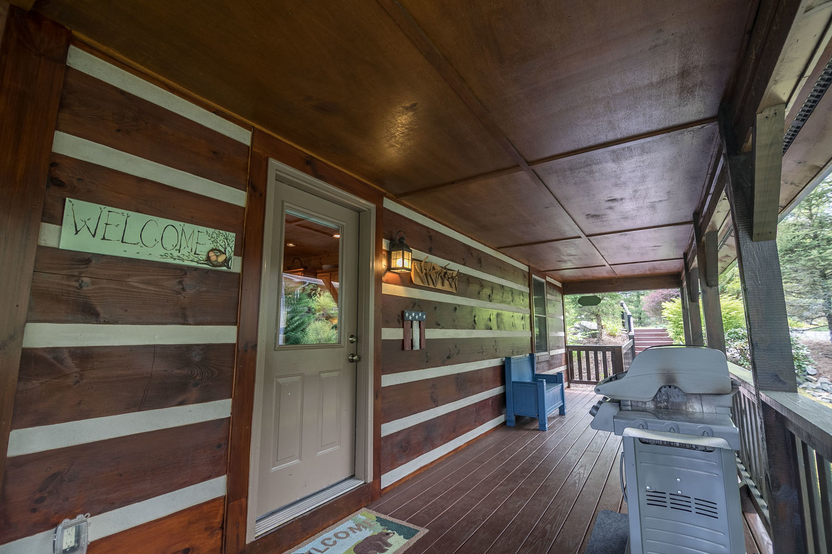 Front deck with entrance to Amen Corner