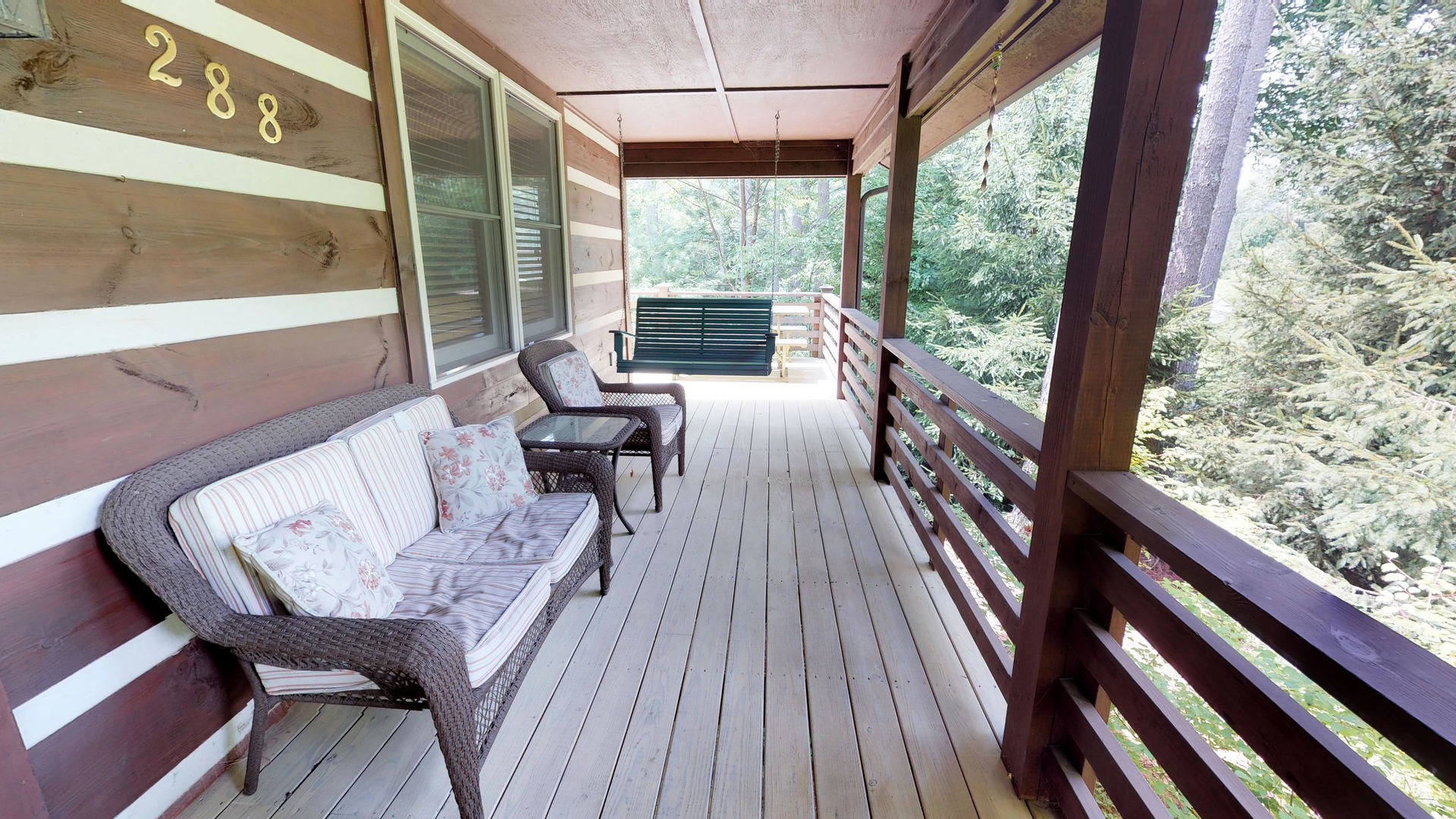 Porch with outdoor seating