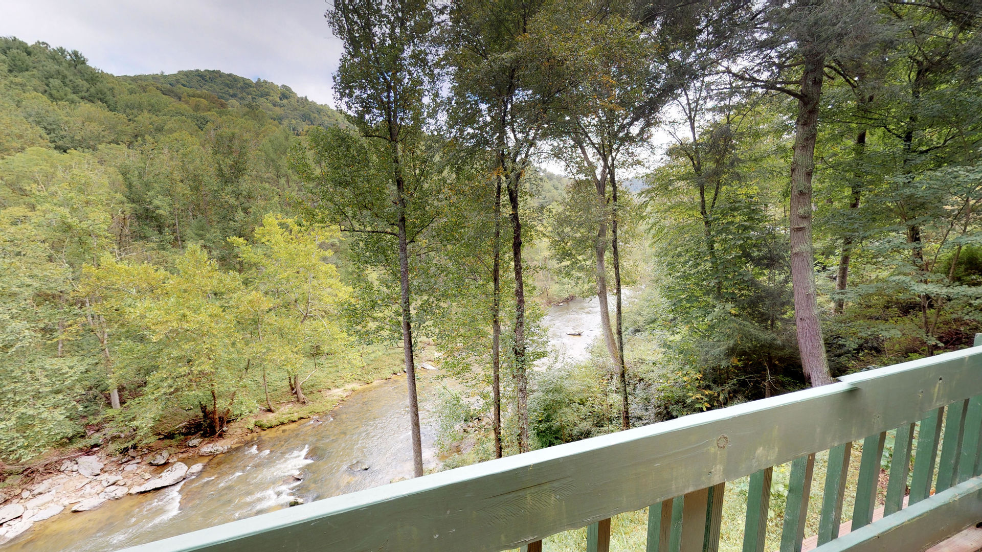 View of the river from the deck