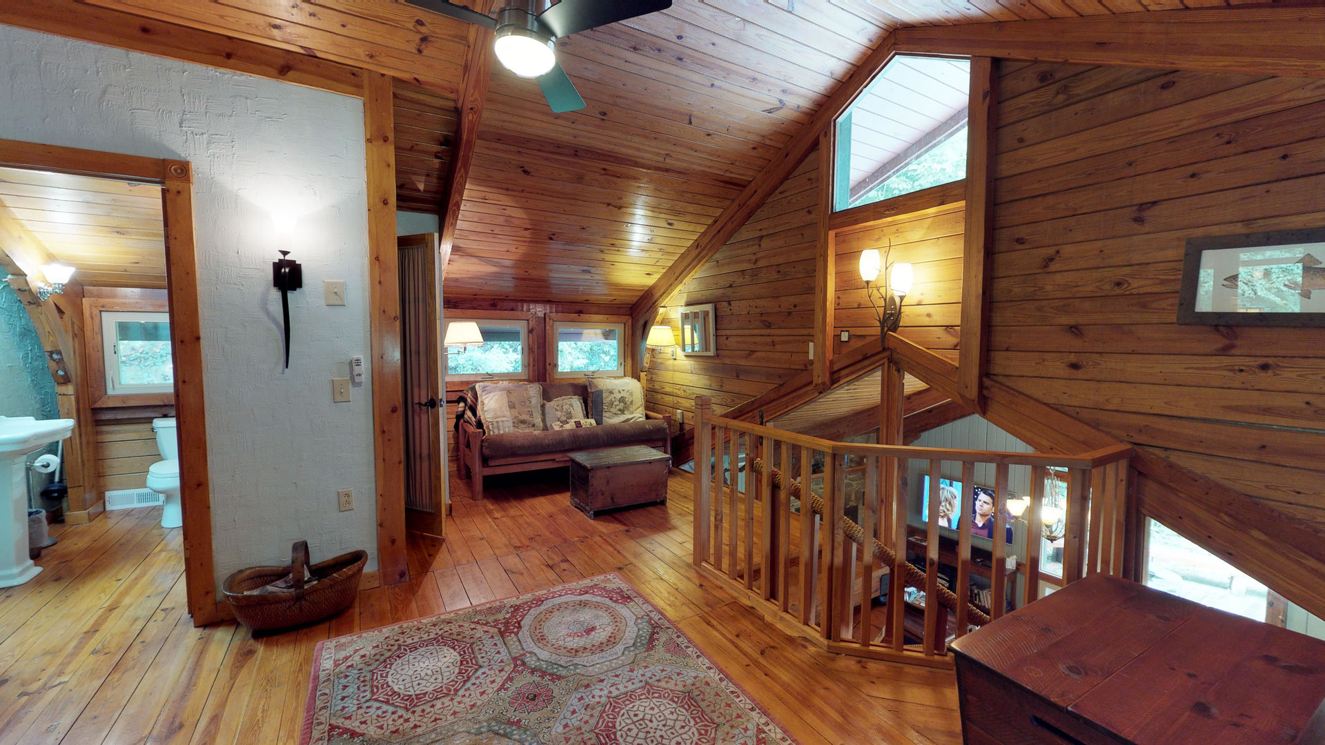 Upstairs area with futon