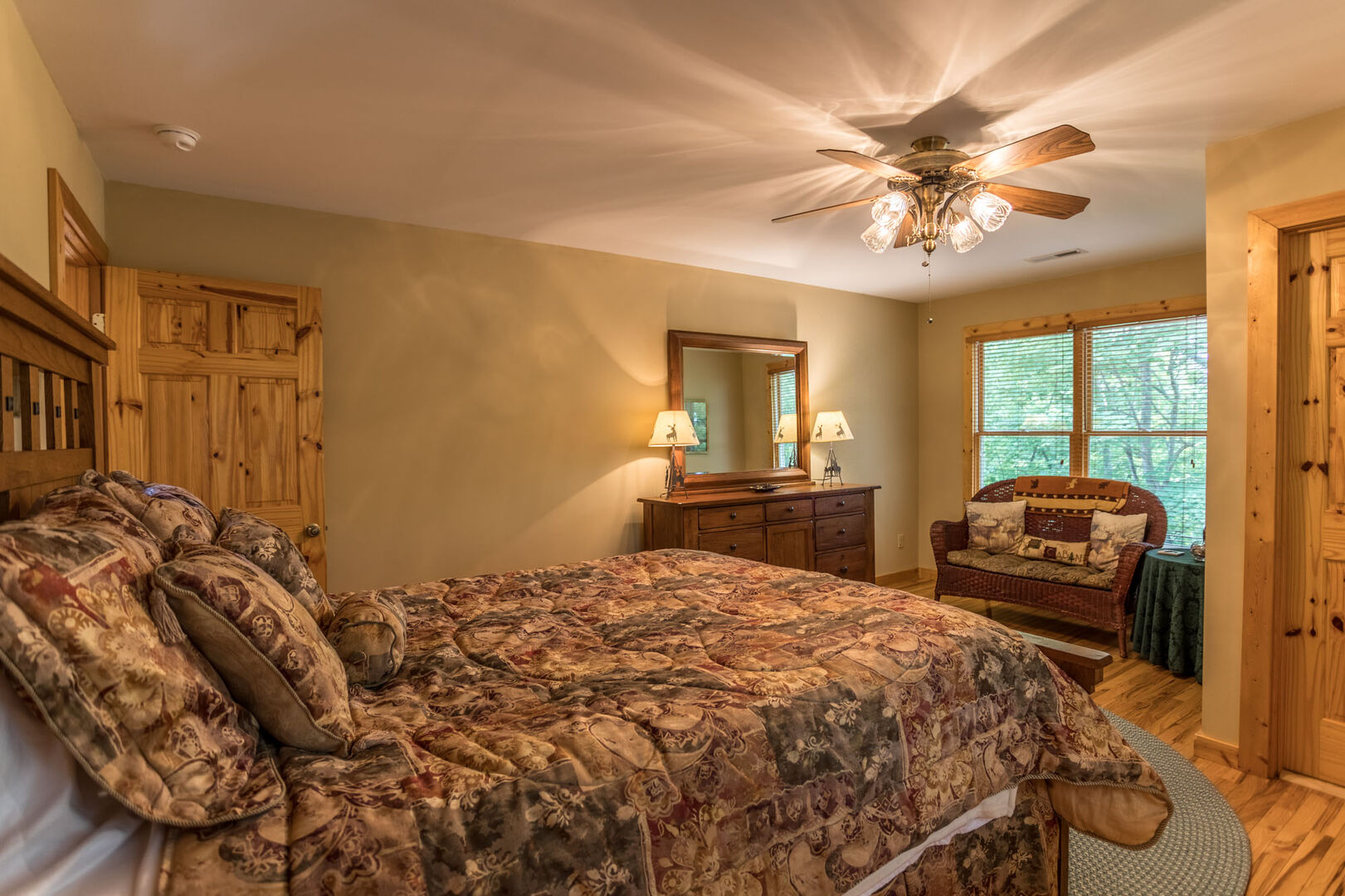 Third bedroom has beautiful views and additional seating space