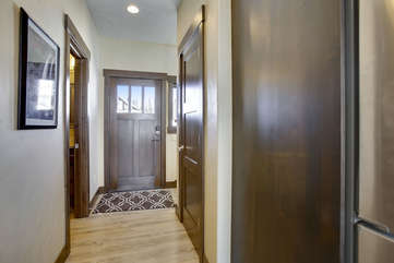 Front door with foyer area.