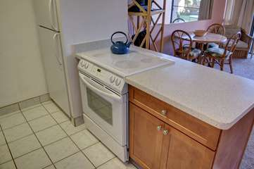 Newly updated kitchen cabinets and counters