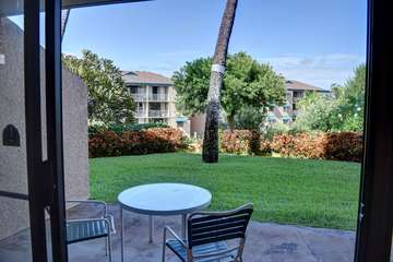 Ground floor view with lanai seating