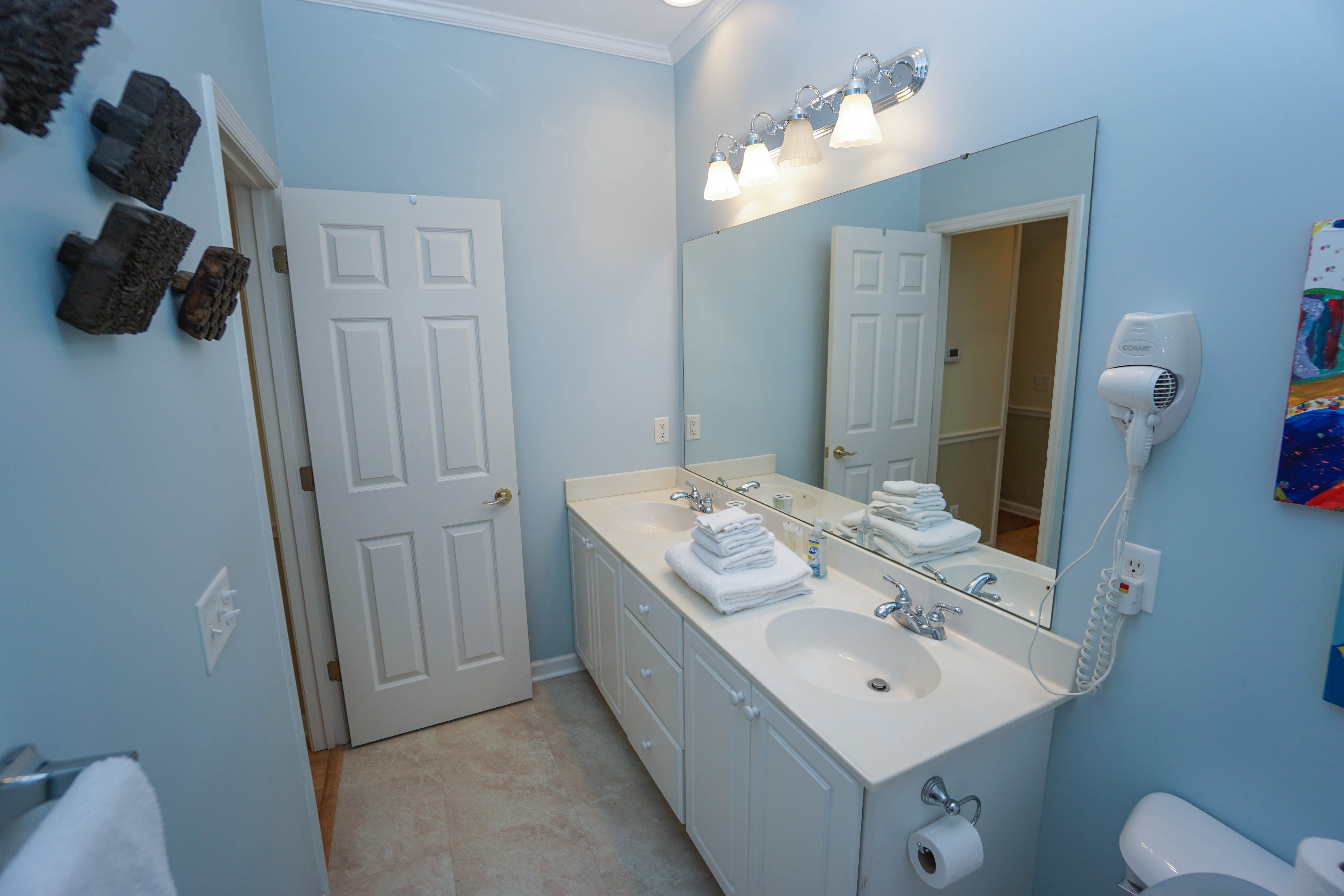 Guest Bathroom with Double Vanities