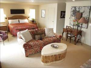 5th master suite with King bed/ bath/TV, fireplace, kitchen