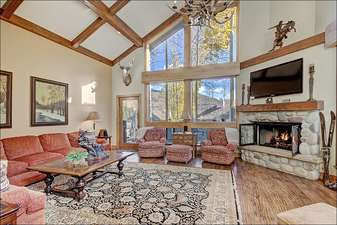 Sunny Living Room - National Forest Views, East Balcony, Large, Flat TV