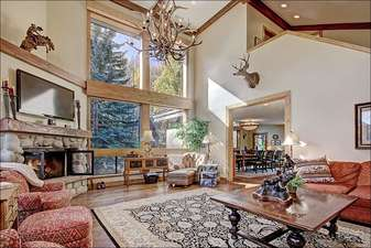Vaulted Ceilings and Large Picture Windows in the Living Room