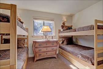 Two Sets of Twin Bunk Beds in the Fourth Bedroom