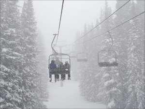 Snowy Ski Lifts