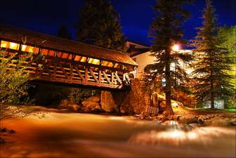 Covered Bridge at Night