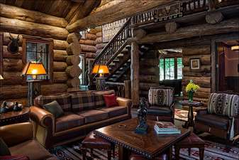 Comfortable living room is one of several gathering places of the home