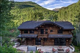 View of Gore Range from rear patio sitting area