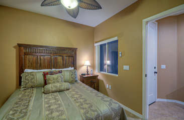 Enter second bedroom from front entrance foyer