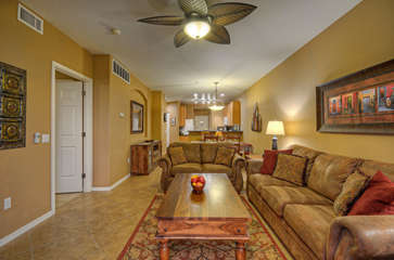 Open and spacious floor plan connects great room and kitchen
