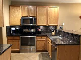 Kitchen has alll stainless appliances, newly added in late 2018