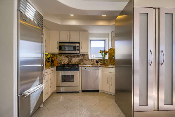 updated kitchen area