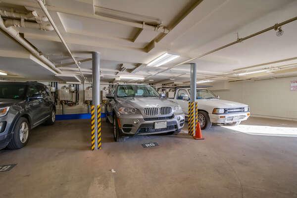 1 dedicated garage parking spot