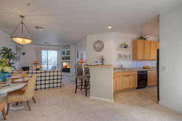 Open floor plan is bright and spacious with attractive living areas