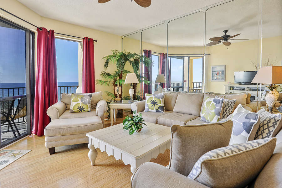 Spacious Living Area Access to the Balcony and Fantastic Views
