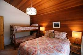 2nd Queen Bedroom with twin bunk beds. Brand New Mattresses.