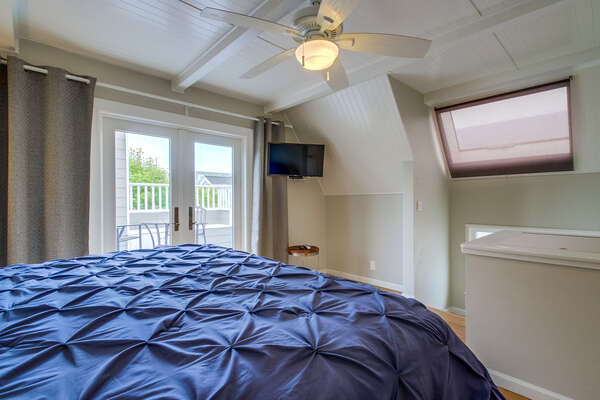 Third level Master suite, with private balcony and flat screen TC